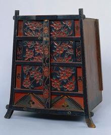 椿文鎌倉彫笈